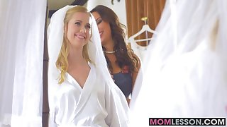 Horny Anissa and lovely bride Violette fucked by big pole