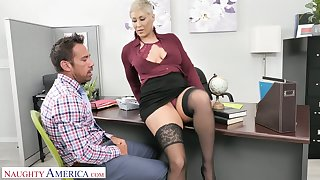 Dispirited hotshot Ryan Keely wants her male office assistant to become her sex attendant